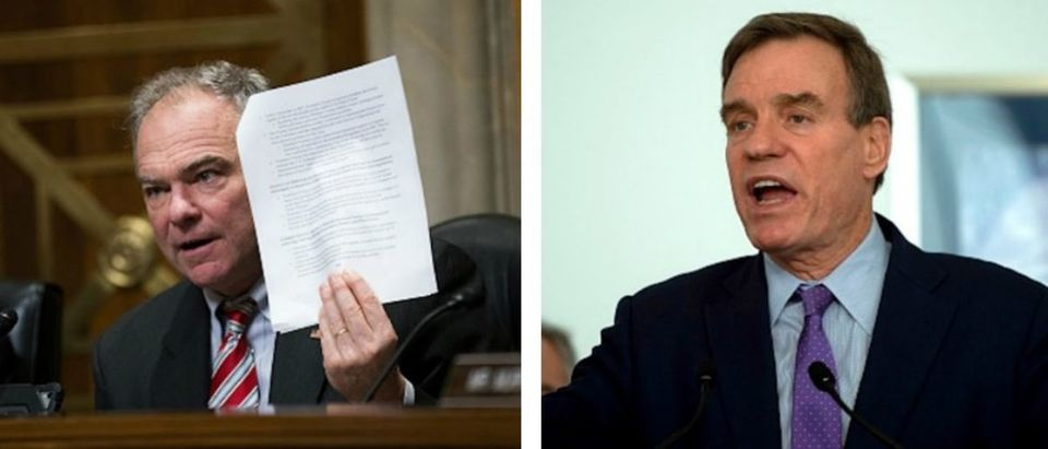 Democratic senators who condemned Supreme Court Justice Brett Kavanaugh of unproven sexual misconduct allegations refused to acknowledge the sexual assault allegations that have emerged against Virginia Lt. Gov. Justin Fairfax when asked by The Daily Caller News Foundation Thursday. Both photos belong to ANDREW CABALLERO-REYNOLDSAFPGetty Images