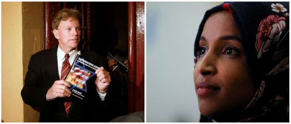 David Duke and Ilhan Omar (LEFT: REUTERS/Gustau Nacarino RIGHT: REUTERS/Brian Snyder)