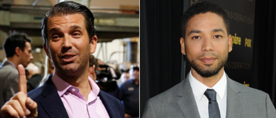 Donald Trump Jr. - left (Joshua Roberts - Reuters) Jussie Smollett - right (Angela Weiss - Getty Images)