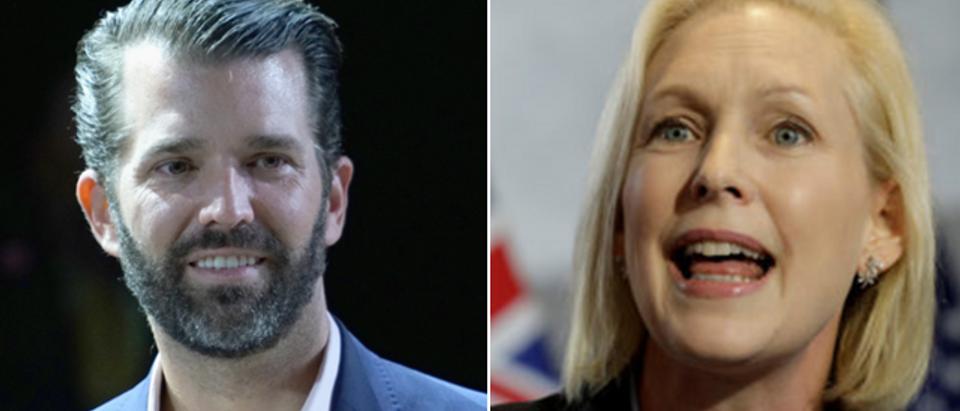 Donald Trump Jr. - left - (Manny Carabel, Getty Images) Kirsten Gillibrand - right - (Yuri Gripas, Reuters)