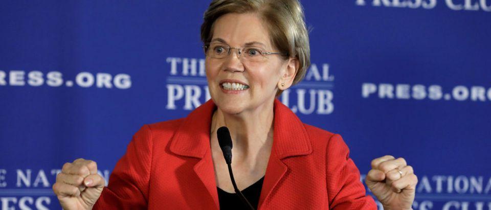 Senator Elizabeth Warren delivers a major policy speech in Washington REUTERS/Yuri Gripas