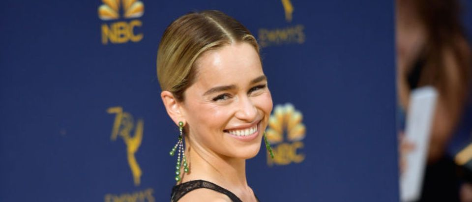 LOS ANGELES, CA - SEPTEMBER 17: Emilia Clarke attends the 70th Emmy Awards at Microsoft Theater on September 17, 2018 in Los Angeles, California. (Photo by Matt Winkelmeyer/Getty Images)