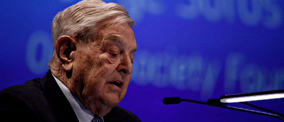 George Soros, Founder and Chairman of the Open Society Foundation gives a speech during Economic Forum in Brussels, Belgium on June 1, 2017. Shutterstock