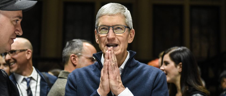 Tim Cook, CEO of Apple speaks while unveiling new products during a launch event at the Brooklyn Academy of Music on Oct. 30, 2018 in New York City. (Stephanie Keith/Getty Images)