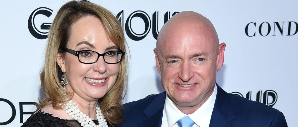 Gabrielle Giffords and Mark Kelly attend the 2018 Glamour Women Of The Year Awards: Women Rise on November 12, 2018 in New York City. (Photo by Dimitrios Kambouris/Getty Images for Glamour)