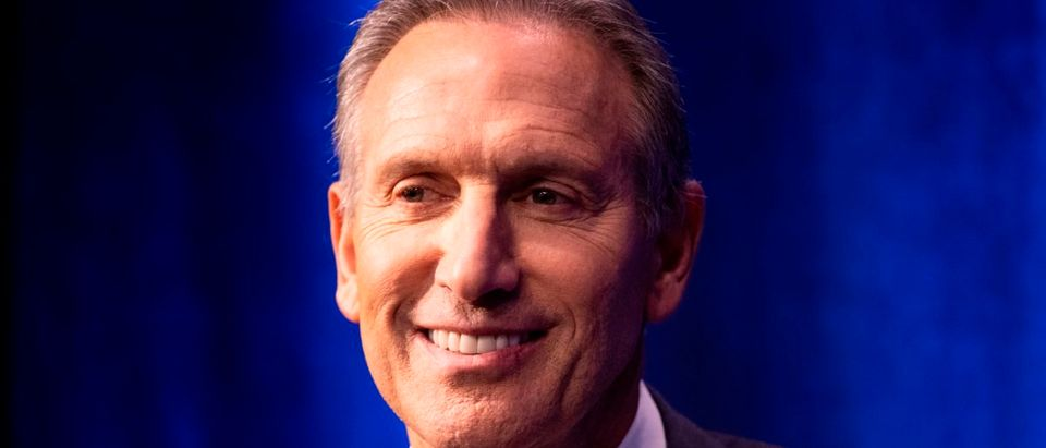 Former Chairman and CEO of Starbucks, Howard Schultz, speaks during the presentation of his book 'From The Ground Up' on January 28, 2019 in New York City. (JOHANNES EISELE/AFP/Getty Images)