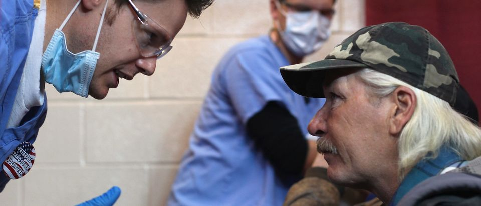 "Homeless Veterans Get Medical Care And Supplies At ""Stand Down Event"""