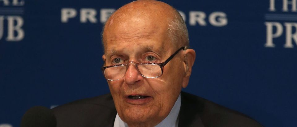 """Rep. John Dingell speaks at the National Press Club, June 27, 2014 in Washington, DC. Rep. Dingell who is the longest serving member of Congress was Newsmaker Luncheon speaker talked about """"When Congress Worked"""". (Photo by Mark Wilson/Getty Images)"""
