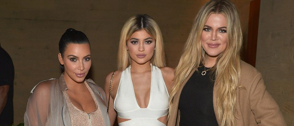 MALIBU, CA - SEPTEMBER 01: Kim Kardashian West, Kylie Jenner, Khloe Kardashian host a dinner and preview of their new apps launching soon at Nobu Malibu on September 1, 2015 in Malibu, California. (Photo by Charley Gallay/Getty Images for Kardashian/Jenner Apps)