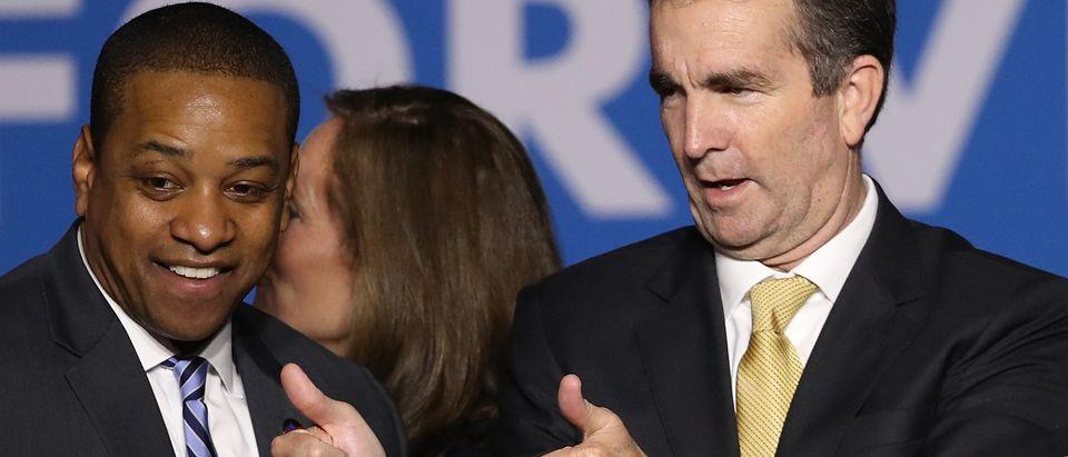 Virginia Gubernatorial Candidate Ralph Northam Holds Election Night Gathering In Fairfax, Virginia