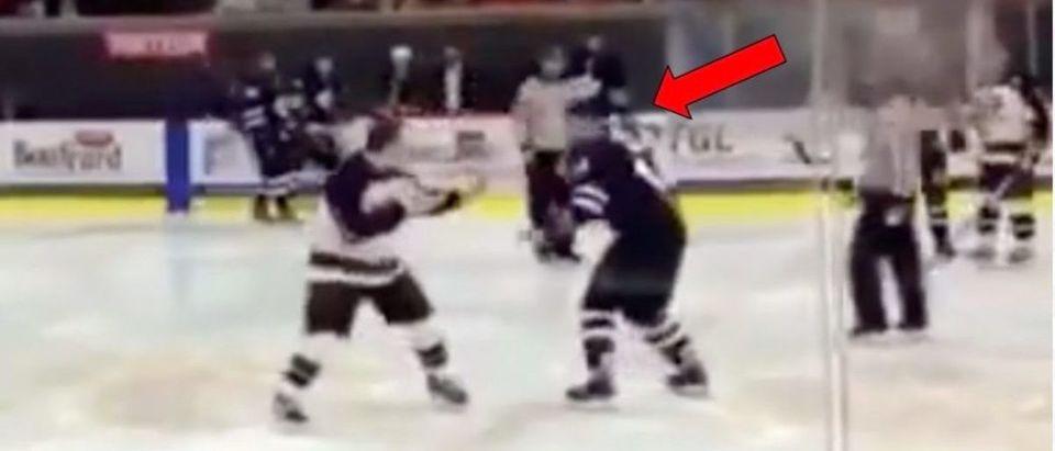 Hockey Dance (Credit:Screenshot/Twitter Video https://twitter.com/barstoolsports/status/1097872877997690880?ref_src=twsrc%5Etfw)