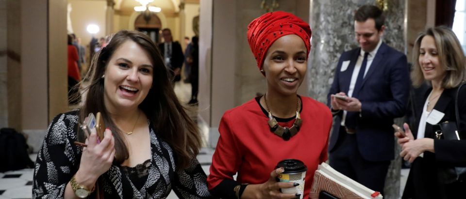 Rep. Ilhan Omar (D-MN) walks on Capitol Hill