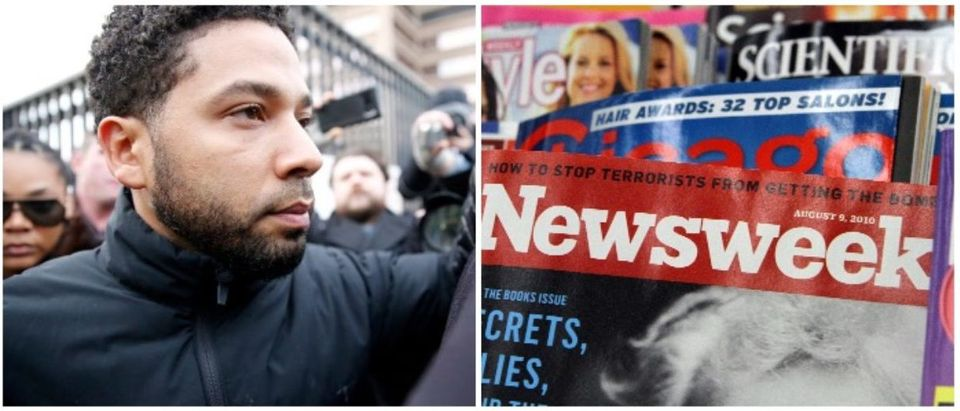 Jossie Smollett and Newsweek (LEFT: Nuccio DiNuzzo/Getty Images RIGHT: John Gress/Getty Images)