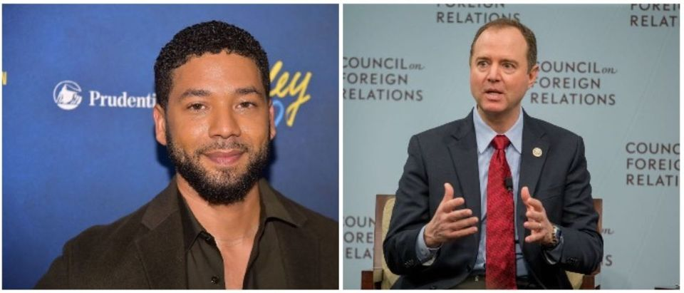 Jussie Smollett and Adam Schiff (LEFT: Theo Wargo/Getty Images RIGHT: Tasos Katopodis/Getty Images)