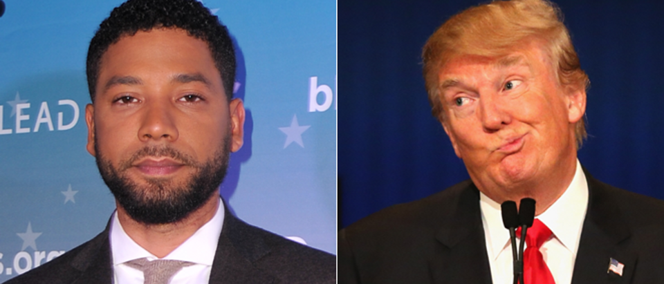 Jussie Smollett - left - (Rachel Luna, Getty Images) Donald Trump - right - (Scott Olson, Getty Images)