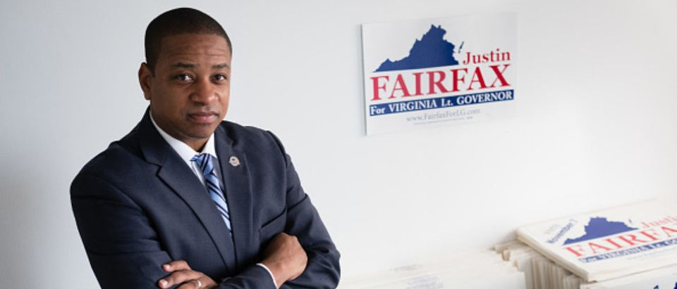 Justin Fairfax, during his run for Virginia lieutenant governor -- Sarah L Voisin - The Washington Post via Getty Images