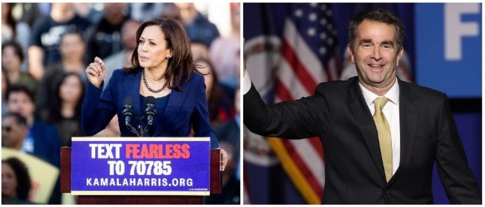 Kamala Harris and Ralph Northam (LEFT: NOAH BERGER/AFP/Getty Images RIGHT: Win McNamee/Getty Images)