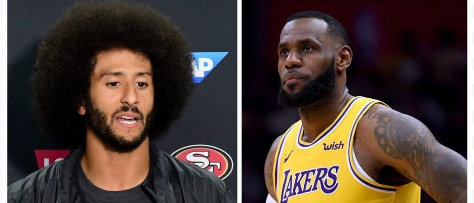 LeBron James, Colin Kaepernick (Credit: Getty Images)