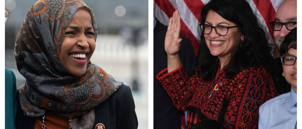 "An Iranian-born Australian Shia Muslim imam, known as the ""imam of peace,"" called out freshman Democratic Reps. Ilhan Omar and Rashida Tlaib on Saturday for remaining silent amid an onslaught of Palestinian rocket fire into Israel. Saul Loeb/AFP/Getty Images"