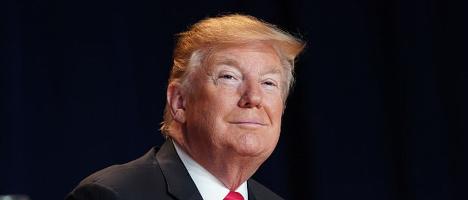 U.S President Donald Trump attends the 2019 National Prayer Breakfast on Feb. 7, 2019 in Washington, D.C. (Photo by Chris Kleponis - Pool/Getty Images)