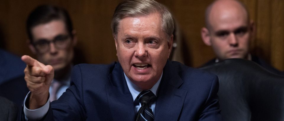 Sen. Lindsey Graham, R-S.C., defends Judge Brett Kavanaugh during the Senate Judiciary Committee hearing on his nomination be an associate justice of the Supreme Court of the United States
