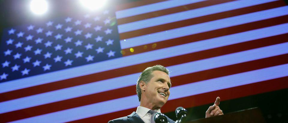 FILE PHOTO: Democratic gubernatorial candidate Gavin Newsom elected governor of California
