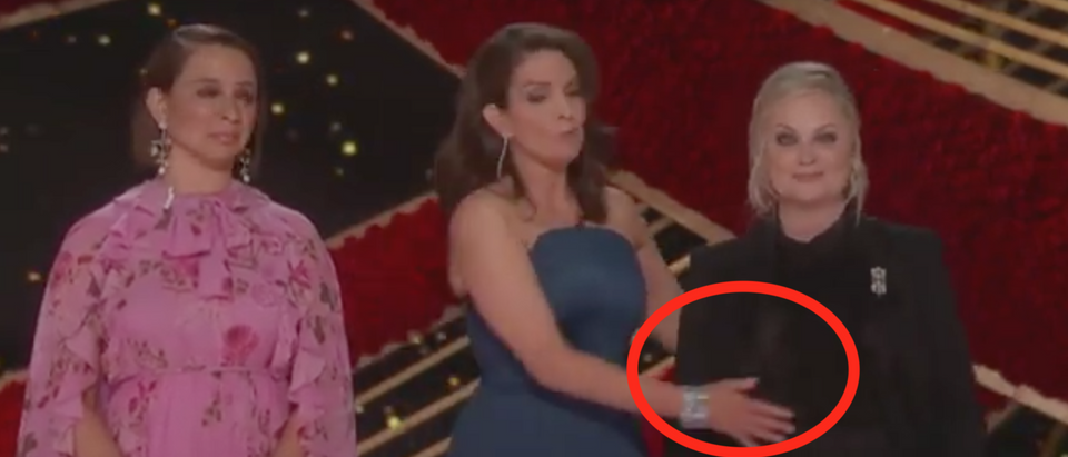 Maya Rudolph, Tina Fey and Amy Poehler open the 91st Academy Awards. Screen Shot/ABC