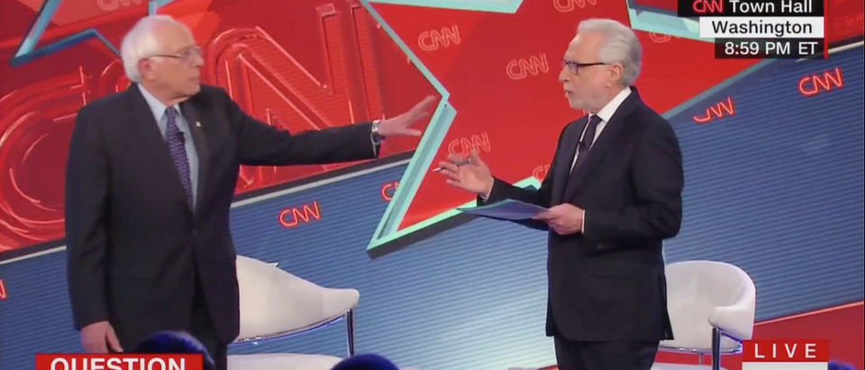 Sen. Bernie Sanders 2020 Town Hall (CNN Screenshot: February 25, 2019)