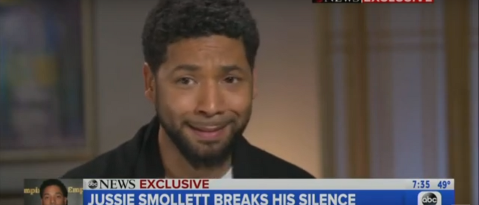 Jussie Smollett pleaded guilty to giving false information to officials in 2007. Screenshot/Good Morning America/YouTube