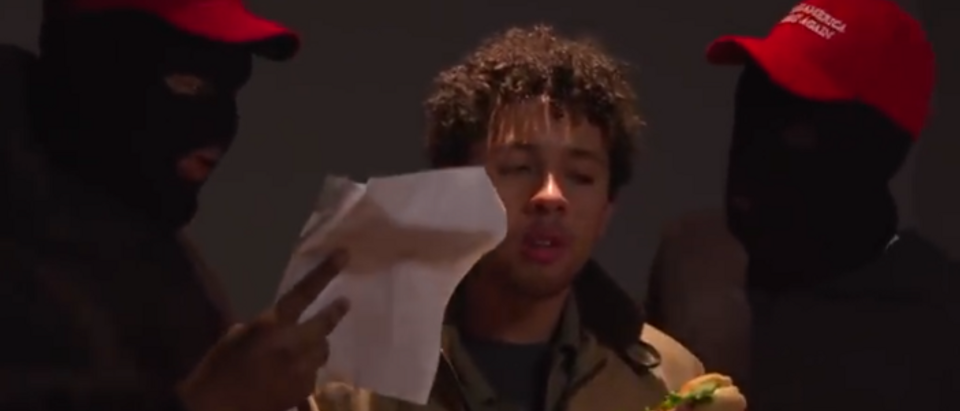 The Daily Show Smollett movie trailer (screengrab)