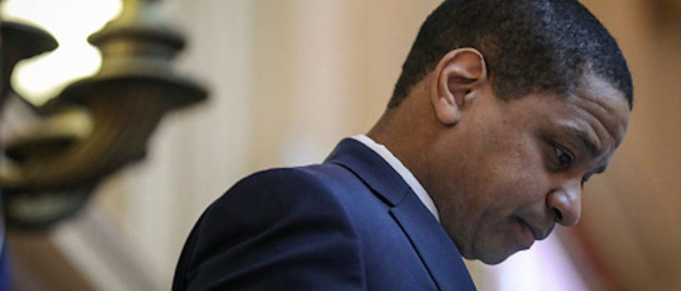 RICHMOND, VA - FEBRUARY 07: Virginia Lt. Governor Justin Fairfax presides over the Senate at the Virginia State Capitol, February 7, 2019 in Richmond, Virginia. Virginia state politics are in a state of upheaval, with Governor Ralph Northam and State Attorney General Mark Herring both admitting to past uses of blackface and Lt. Governor Justin Fairfax accused of sexual misconduct. (Photo by Drew Angerer/Getty Images)