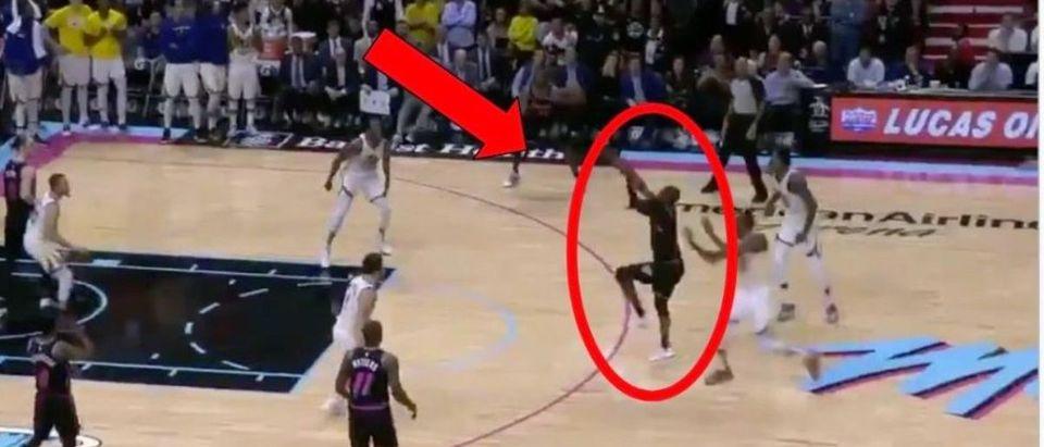 Dwyane Wade (Credit: Screenshot/Twitter Video https://twitter.com/SportsCenter/status/1100957585996419073?ref_src=twsrc%5Etfw)