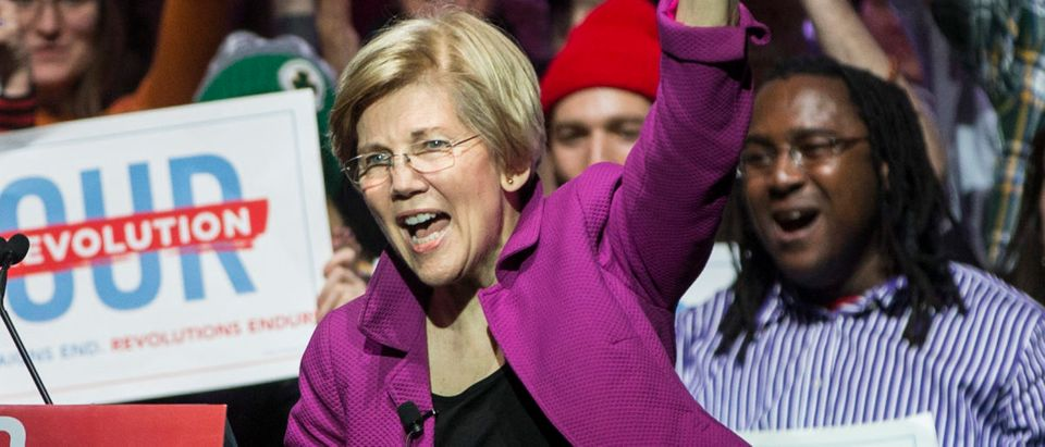Bernie Sanders And Elizabeth Warren Hold Progressive Political Rally In Boston (Scott Eisen/Getty Images)