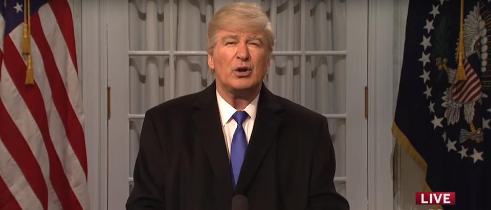 Alec Baldwin Trump SNl Rose Garden