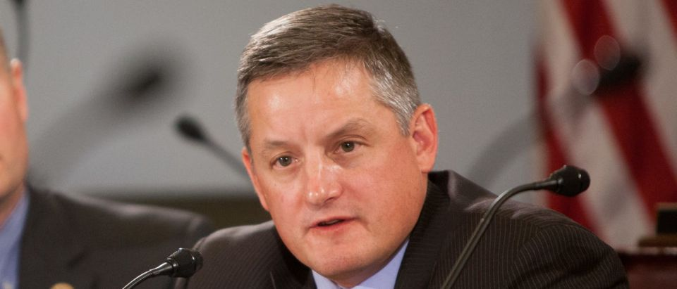 Rep. Bruce Westerman speaks during a U.S. House Budget Committee markup on the Concurrent Resolution on the Budget for FY 2016 on Capitol Hill in Washington, D.C. (Photo by Allison Shelley/Getty Images)