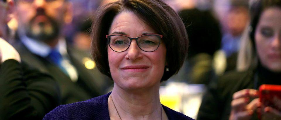 Sen. Amy Klobuchar attends the National Prayer Breakfast on Feb. 7, 2019. REUTERS/Kevin Lamarque
