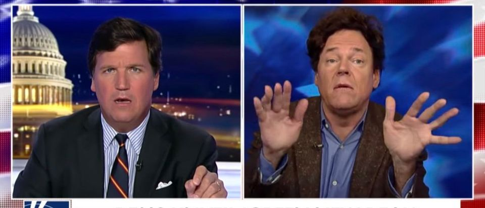 Tucker Carlson and an adviser for Rep. Alexandria Ocasio-Cortez. [Photo: Screenshot/Fox News]
