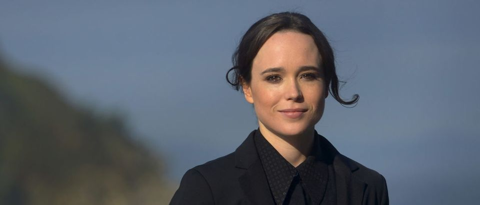 Canadian actress Ellen Page poses during a photocall at the San Sebastian Film Festival