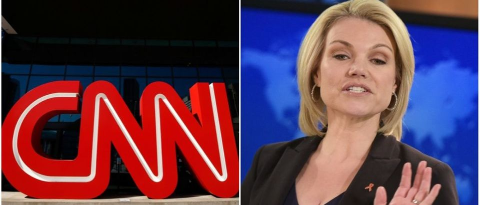 Left: CNN (Reuters Pictures), Right: Heather Nauert (Getty Images)