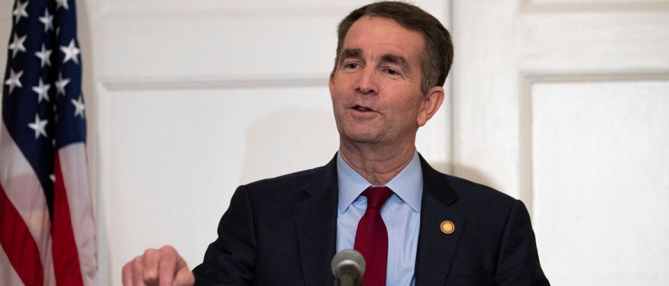 Virginia Gov. Ralph Northam speaks with reporters at a press conference at the governor's mansion on Feb. 2, 2019 in Richmond, Virginia. (Photo by Alex Edelman/Getty Images)