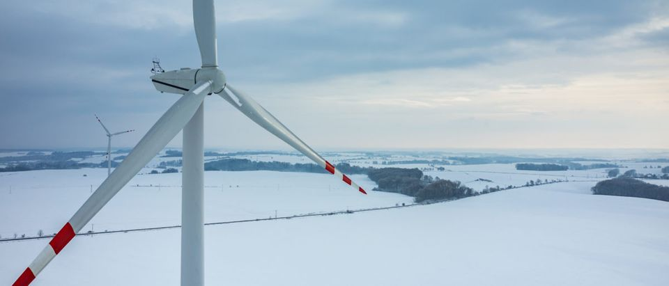 "As Congress debates the Green New Deal, which calls for a massive increase in renewable energy use, new reports show wind energy ""dropped off"" as frigid Arctic air descended on the eastern U.S. earlier this year. Source: Stockr/Shutterstock"