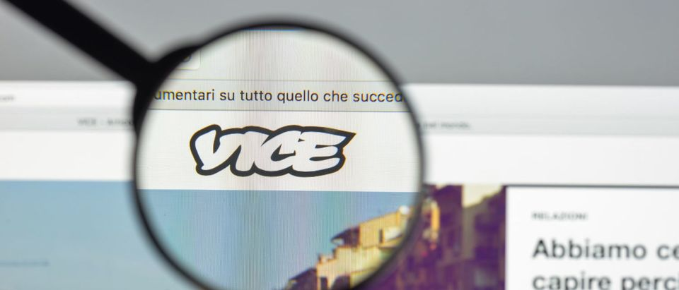 Milan, Italy - August 10, 2017: Vice.com website homepage. It is a print magazine and website focused on arts, culture, and news topics. Vice logo visible. - Image