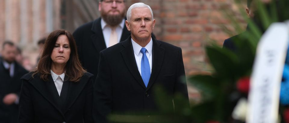U.S. Vice President Pence Visits Auschwitz Concentration Camp Memorial