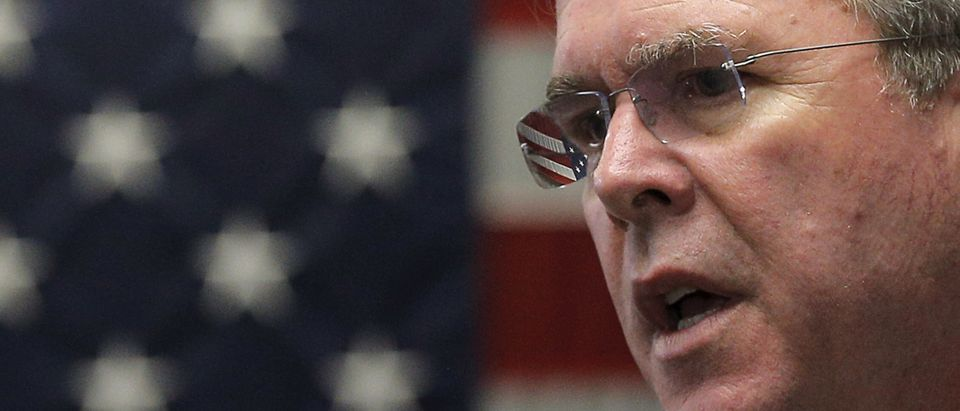 U.S. Republican presidential candidate Jeb Bush speaks at a campaign town hall meeting in Franklin