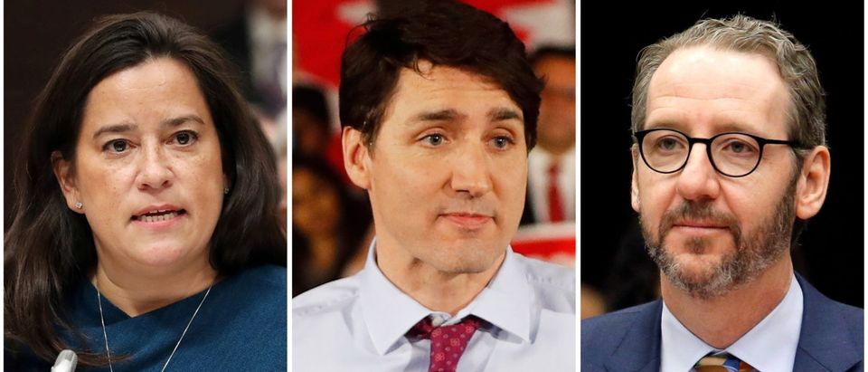 FILE PHOTOS: Combination photo of Canadian Prime Minster Justin Trudeau former Canadian justice minister Jody Wilson-Raybould and Gerald Butts former chief aide to Trudeau in Toronto and in Ottawa