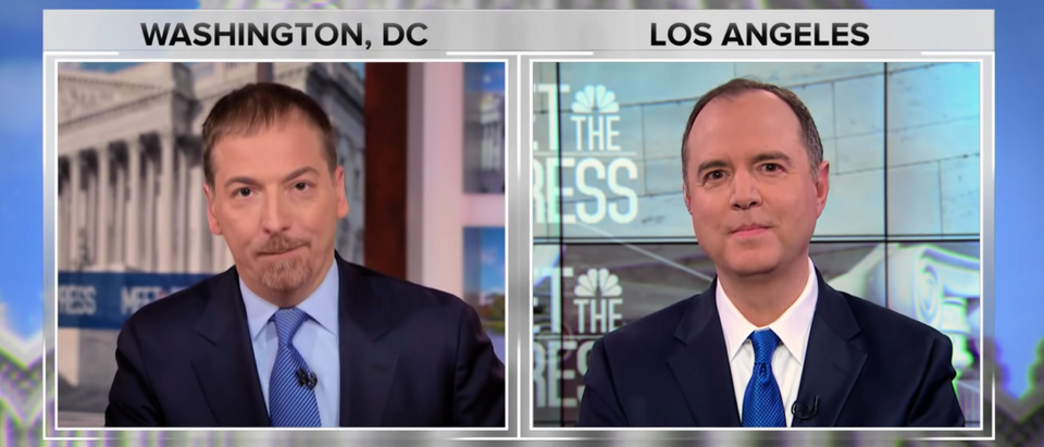 Democratic U.S. Rep. Adam Schiff speaks to Meet the Press on March 10, 2019. (YouTube screenshot/NBC News)