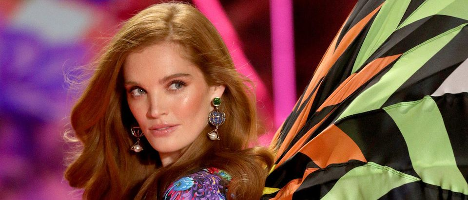 Alexina Graham walks the runway wearing Swarovski in the 2018 Victoria's Secret Fashion Show at Pier 94 on November 8, 2018 in New York City. (Photo by Thomas Concordia/Getty Images for Swarovski)