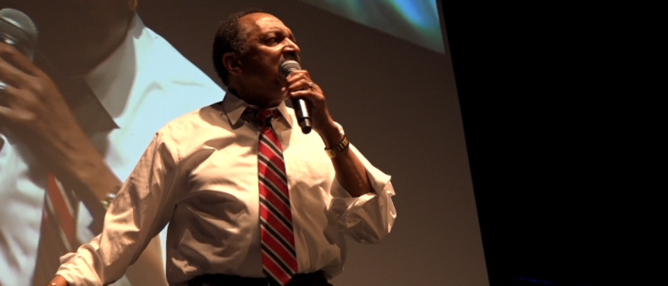 Bishop E.W. Jackson speaks at Blexit rally (Grae Stafford picture)