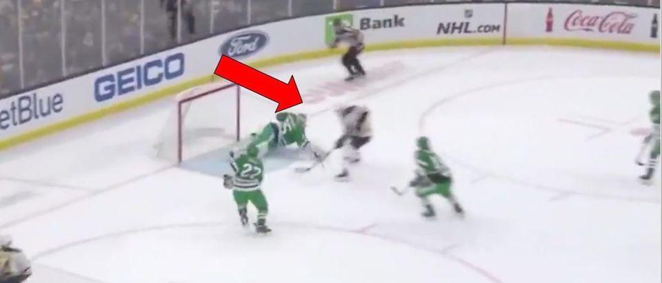 Bruins (Credit: Screenshot/Twitter Video https://twitter.com/ConorRyan_93/status/1103126085301096448)