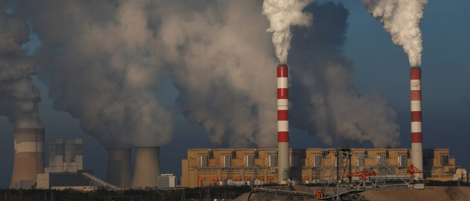 Smoke and steam billows from Belchatow Power Station, Europce's largest coal-fired power plant operated by PGE Group, near Belchatow, Poland, Nov. 28, 2018. REUTERS/Kacper Pempel
